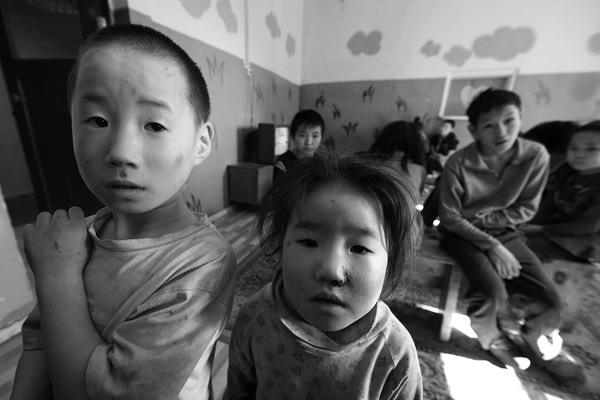 Children in orphanage in Ulaanbaatar/Mongolia.